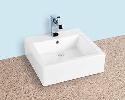 18 x 18 square vessel sink white