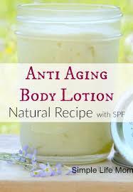 natural anti aging body lotion recipe