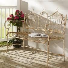 birdcages iron garden bench
