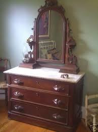 antique eastlake marbletop dresser w