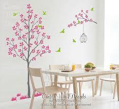 Nursery Wall Decal Pink Tree Wall Decal Cuma Wall Decals