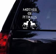 Amazon Com Mother Of Pitbulls Decal Personalized Floppy Pits Vinyl Car Decal Window Wall Laptop Yeti Decal Sticker 6 White Arts Crafts Sewing
