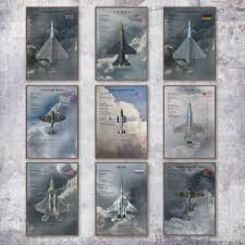 Fighter Aircraft Prints Aviation Nursery Airplane Wall Art Canvas Painting Picture Vintage Plane Posters Kids Room Wall Decor Buy At The Price Of 2 65 In Aliexpress Com Imall Com