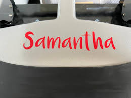 Custom Vinyl Name Text Decal Stickers For Water Bottles Cars Weddings On Luulla
