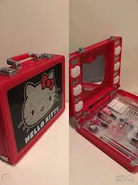 o kitty makeup case kit with mirror