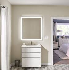 36 x 40 inch rectangle lighted mirror