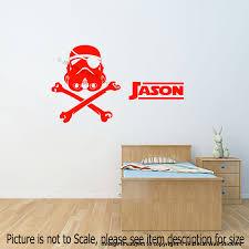 Stormtrooper Pirate Helmet Wall Stickers Star Wars Personalized Name Murals Ebay