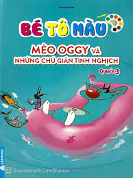 Sách Bé Tô Màu Mèo Oggy Và Những Chú Gián Tinh Nghịch - Quyển 3 - FAHASA.COM