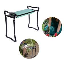 outsunny padded folding garden kneeler