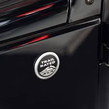 Car Body Sticker Trail Rated 4x4 3d Emblem Badge Black Red Metal Decal For Jeep Wrangler Patriot Grand Cherokee Compass Lib Body Stickers Black And Red Emblems