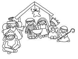 Kerststal Kleurplaten Kerst Knutselen Kerstmis Und Kerststallen