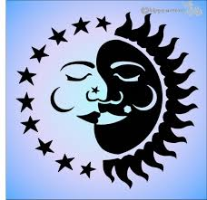 Sun Moon Eclipse Sticker