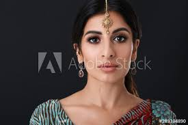 makeup wearing traditional indian