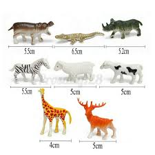 68pcs Plastic Farm Yard Wild Animals Fence Tree Model Figures Play Kids Toys For Sale Ebay