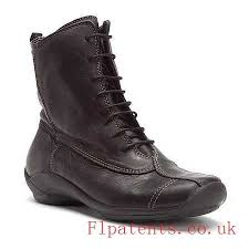boots black leather golda mid calf