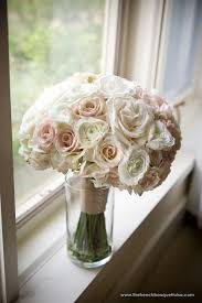 bridal bouquet of light pink blush
