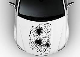 Amazon Com Car Hood Vinyl Sticker Decal Fantastic Lily Flower Pattern N634 Home Kitchen