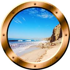 Vwaq Beach Porthole 3d Ocean Wall Decal Peel And Stick Decor For Sale Online