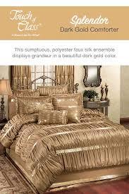 splendor shirred faux silk dark gold
