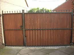 Image Result For Wood Car Gate Backyard Gates Metal Driveway Gates Wood Gate
