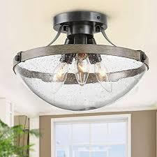 log barn semi flush mount ceiling light