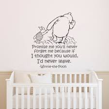 Winnie The Pooh Wall Decal Quote Promise Me You Ll Never Etsy