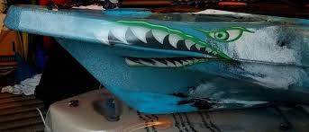 Weston Ink Have You Seen Our New Flying Tiger Shark Teeth Decal This One Was Cut In Half To Fit On A Kayak Facebook