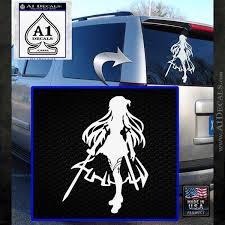 Sword Art Online Asuna Anime Car Window Decal Sticker 015
