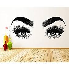 Amazon Com Lash Decor Eyelash Wall Stickers Lash Decal For Walls Salon Decorations For Wall Beauty Salon Decor Beauty Wall Decals Eyelash Wall Decal Salon Wall Decals Lash Decals For Walls Lash Wall
