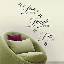 Roommates Live Love Laugh Quote Wall Decals Bed Bath Beyond