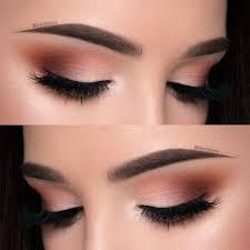 natural makeup look brown eyes