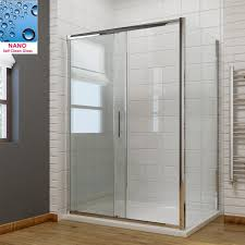 sliding door shower enclosure 8mm walk