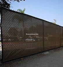 Amazon Com 6 X 25 Dark Brown Uv Rated 85 Blockage Fence Privacy Screen Windscreen Shade Cover Fabric Mesh Tarp W Grommets Shade Cover Privacy Screen Fence