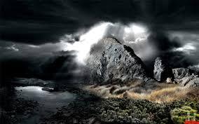 3d stone mountains view wallpaper hd