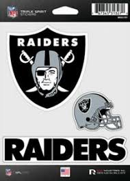Oakland Raiders Triple Spirit Stickers 3 Decals Auto Tumbler Laptop Cut To Shape Ebay