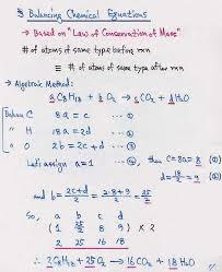 balance chemical equations algebraic