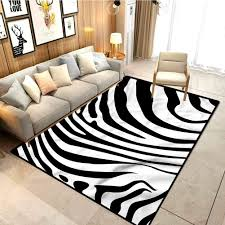 Amazon Com Zebra Print Floor Mat For Office Chair Carpet Animal Skin Pattern Carpet Spots For Kids Classroom W4xl6 Feet Kitchen Dining