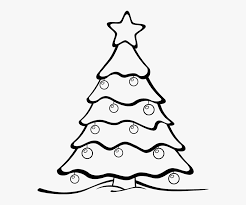 Christmas Tree Black And White Christmas Tree Clipart - Colour In ...