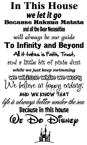 In This House We Do Disney Wall Sticker Wall Sticker Usa