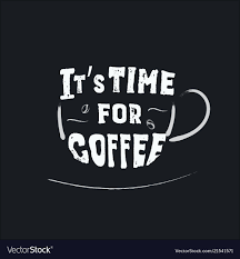 coffee quote lettering phrase on cup royalty vector