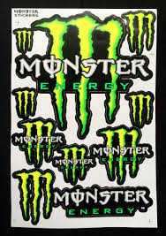 4 Monster Energy Drink Stickers Sheet For Helmet Bike Dirt Bike Atv Skateboard Motorcross Car Decal Automo Monster Energy Monster Stickers Monster Energy Drink