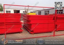 6ft 9 5ft Portable Temporary Fencing Panels With Highly Visible Powder Coat Red Color Of Quality Temporary Construction Fencing Razormesh Net