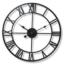 metal roman numeral wall clocks