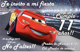 Tarjetas De Invitacion A Cumpleanos Cars Para Fondo De Pantalla En