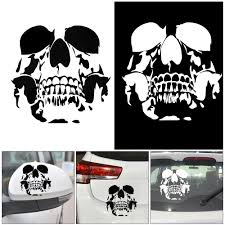 15 2 15 6cm Sticker Adorable Skull Motorcycle Car Decoration Vinyl Stickers Auto Decals White Black Car Styling Car Stickers Aliexpress