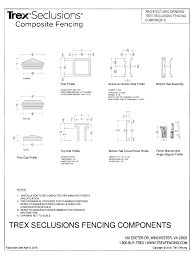 Downloads For Trex Fencing Cad Files Ref Q Autocad Fences 0 Arcat