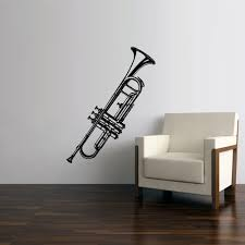 Wall Vinyl Decal Sticker Bedroom Decal Music Instrument Tube Jazz Note Stickersforlife
