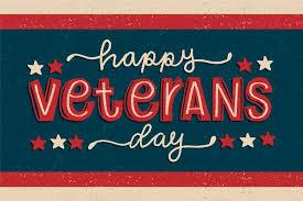 vine lettering veterans day