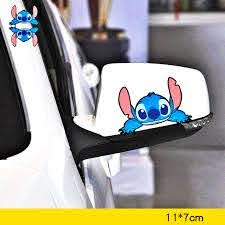 Volkrays Car Accessories Stitch Cartoon Sticker Cover Scratches Decal Decoration For Motorcycle Bicycle Fridge Audi Polo Bmw X5 Car Stickers Aliexpress