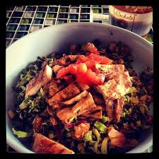 the chopped salad with grilled en